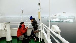 Couple engagement antarctica